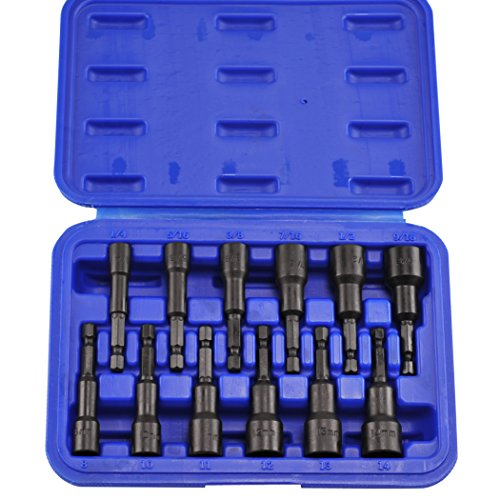 "Neiko 10250A Magnetic Hex Nut Driver Master Kit, Cr-V Steel | 1/4"" Quick-Change Hex Shank 