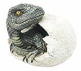 Jurassic Era Predator Velociraptor Breaking Out Of Egg Dinosaur Figurine Hatchling Collectible Sculpture