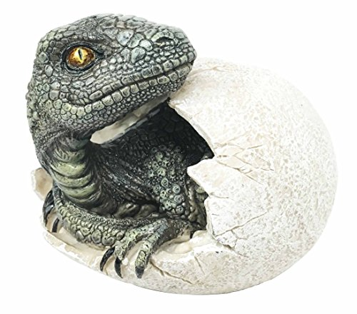 Jurassic Era Predator Velociraptor Breaking Out Of Egg Dinosaur Figurine Hatchling Collectible - Look Predator Alike