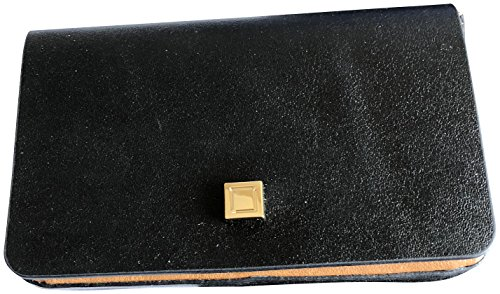 Lodis Blair Leather Mini Card Case Wallet Black