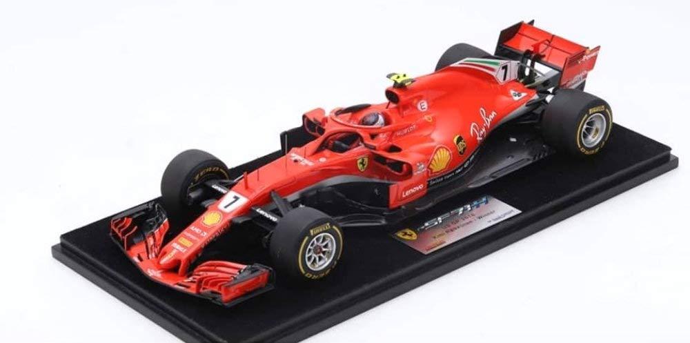 ☆ ルックスマート 1/18 フェラーリ SF71H 2018 F1 アメリカGP ウィナー #7 K.ライコネン B07SYZTW8X