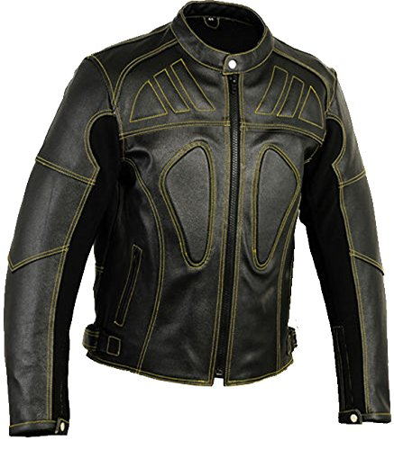 Vented Touring Jacket (Designer Mens Vented Leather Motorbike Jacket For Bikers, XL)