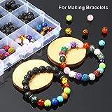 YBLNTEK 600 Pcs Chakra Beads Lava Beads Rock