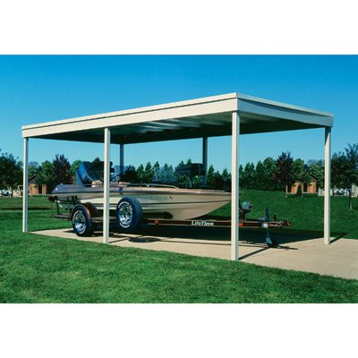 Arrow Freestanding Patio Cover/Carport - 10ft. x 20ft., Model# CP1020 by Arrow