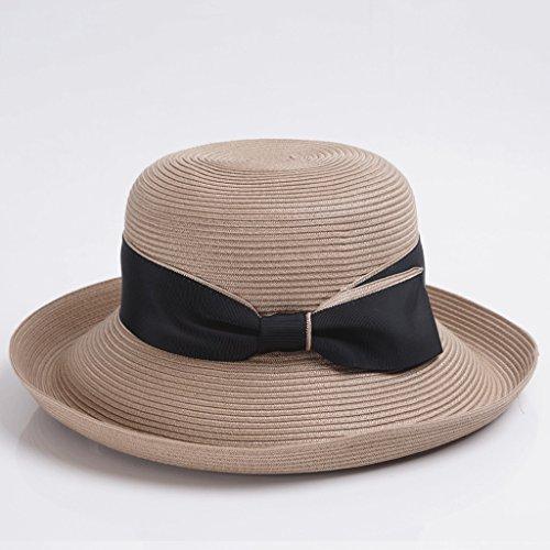Parasole Cappello Beige Elegante Donna Sole Primavera colore Beige Da Estivo Qiqidedian Estate rxwqOv0rn4