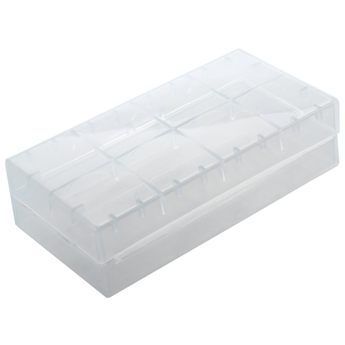 REFURBISHHOUSE Caja para Pila Bateria 18650 Portapila Portabateria Transparente