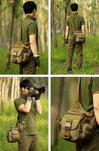 IQQI Tactical Fanny Tasche Molle System-Gürteltasche Multifunktions-Militär Große Wasserdicht Paket für Draußen Klettern,Jungle digital