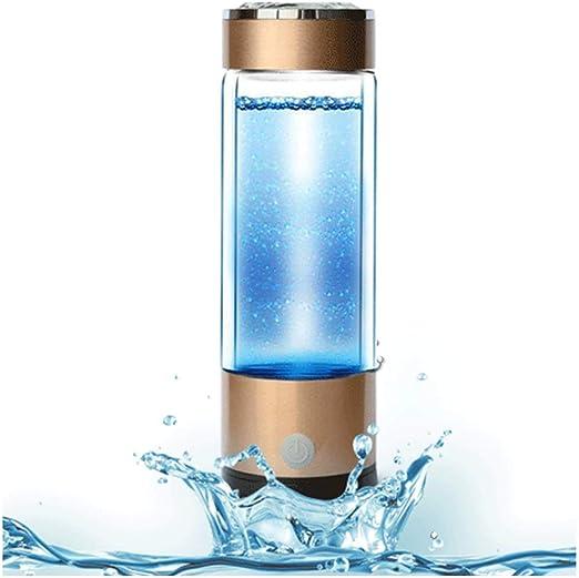 AHELT-J Botella Agua Hidrogenada Portátil Recargable de Agua ...
