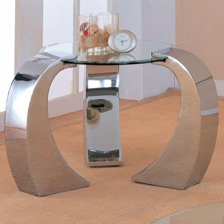 retro-modern-style-chrome-plated-occasional-end-table