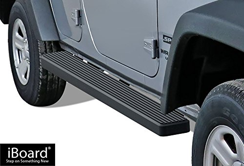 - APS iBoard (Black Powder Coated 6 inches) Running Boards | Nerf Bars | Side Steps | Step Rails For 2007-2018 Jeep Wrangler JK Sport Utility 4-Door
