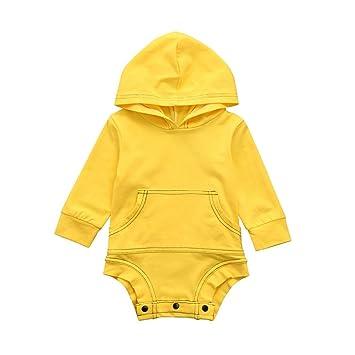aa5d28c73f0b3d Aliciga ロンパース 新生児 ベビー服 かわいい パーカー 無地 長袖 男の子 女の子 着ぐるみ フード付き ワンピース 柔らかい生地