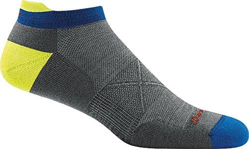 Darn Tough Vertex No Show Tab Ultra-Light Cushion Sock - Men's Gray Large