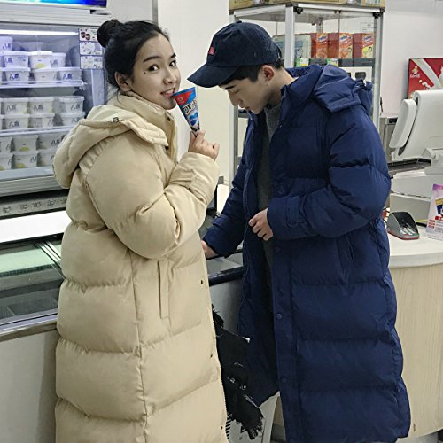 Xuanku Winter Bread Down Jacket Couple Cotton Dress Long Section Thick Knee Jacket Jacket Jacket Women apricot