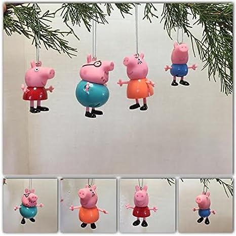 peppa pig family ornament set