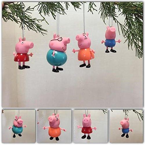 Peppa Pig Family Ornament Set (Set Peppa's Christmas)