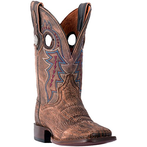 Dan Post Men's Mignon Leather Cowboy Boot Square Toe Tan/Brwon ()