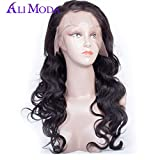 Ali Moda Body Wave 360 Lace Frontal Wig Cap Pre Plucked Natural Hairline With Baby Hair Full Lace Brazilian Virgin Human Hair Wigs For Black Women 20inch