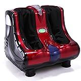 JAXPETY Shiatsu Kneading Rolling Vibration Heating Foot & Calf Massager Personal Health Studio Leg Beautician Red