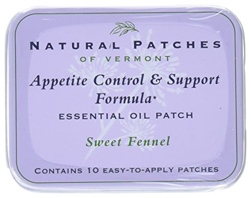 Natural Patches of Vermont Appetite Suppressant Essential Oil Body Patches, Sweet Fennel, 2.6 Ounce Aromatherapy Patches