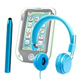 DURAGADGET Leapfrog LeapPad 3 / LeapPad 3x / LeapPad Ultra XDI - Bright Blue Ultra-Stylish Kids Fashion Headphones with Padded Design, Button Remote & Microphone for Leapfrog LeapPad 3 / LeapPad 3x / LeapPad Ultra XDI Kids Tablet + BONUS Matching Stylus!