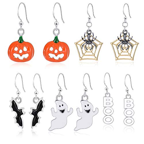 Miraculous Garden Halloween Theme 5 Pairs Drop Dangle