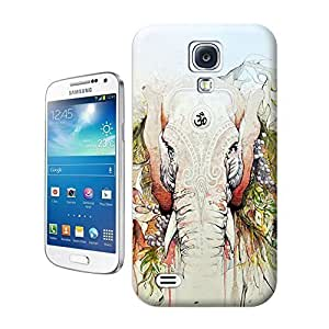 Yishucase-A long nose about elephant with colorful trees durable top Hard Cover for Samsung Galaxy Note 4 case