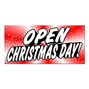 Open Christmas Day - Restaurant Cafe Retail Store Business Sign 5 ...
