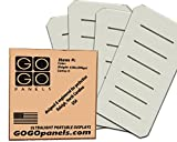 GOGO Panels - P2BW - Cream White Half Panel 2' x 1' - 12-pack