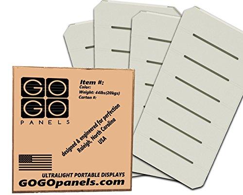 GOGO Panels - P2BW - Cream White Half Panel 2' x 1' - 12-pack by Gogo Panels