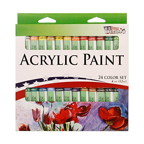US Art Supply 12ml Acrylic Tube Artist Paint Set