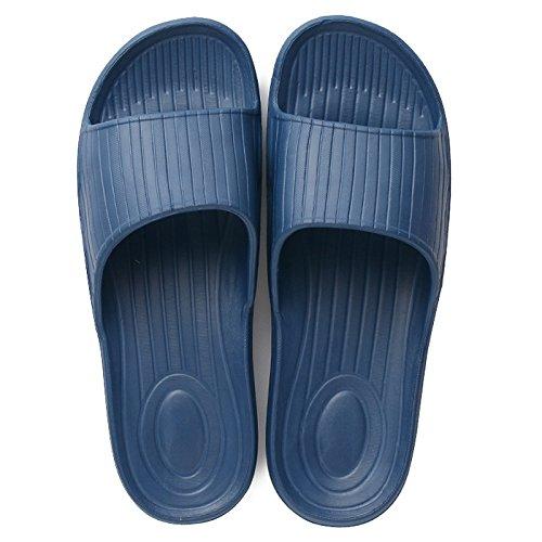 DogHaccd Zapatillas,Par interior sandalfing verano indoor piso resbaladizo slip de baño bañera remolque palabra zapatillas macho Marina