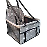 Adorrable Pet Booster Seat Collapsible Waterproof Mesh Side Clip On Dog Car Seats, Grey2, Medium