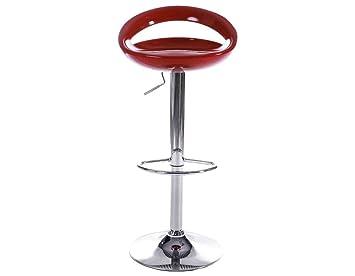 Kokoon design sgabello venus rosso in abs sgabelli: amazon.it: casa