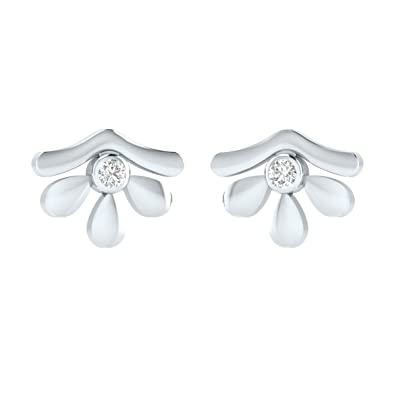 d5533ee41 Buy Diamond and .925 Sterling Silver Fancy Stud Earrings For Womens  Certified Animas Jewels Jewelry Online at Low Prices in India   Amazon  Jewellery Store ...