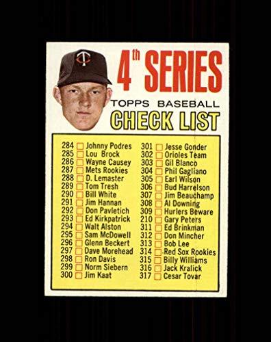 Cl4 Single - 1967 Topps Baseball #278 Jim Kaat CL4 STARX 7 NM CS48310