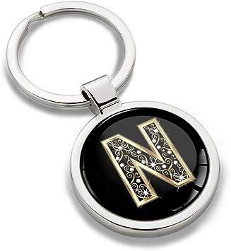 Biomar Labs Schlüsselanhänger Buchstabe Metall Keyring Buchstaben Initialen Alphabet Autoschlüssel Geschenk Metall Schlüsselanhänger Schlüsselbund Edelstahl Gold N Kk 66 Koffer Rucksäcke Taschen