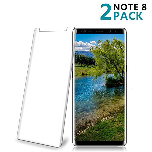 [2 Pack] Galaxy Note 8 Tempered Glass Screen Protector, Loopilops [HD Clear][Anti-Bubble][Anti-Scratch][Anti-Fingerprint] Tempered Glass Screen Protector for Samsung Galaxy Note 8 [Case Friendly]