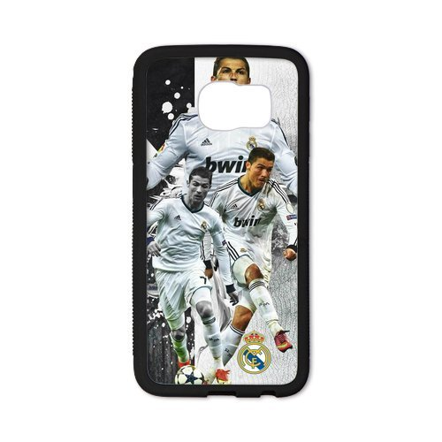 DIY Barcelona Soccer Futsal FC Messi Custom Case Shell Cover for Samsung Galaxy S6 Edge Case (Laser Technology)
