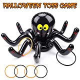 Sizonjoy Halloween Inflatable Spider Ring Toss Game Set with 4 Rings-Halloween Party Decoration Supplies for Kids (Spider Ring)