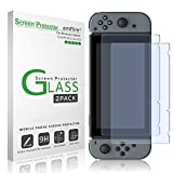 #2: amFilm Tempered Glass Screen Protector for Nintendo Switch 2017 (2-Pack)