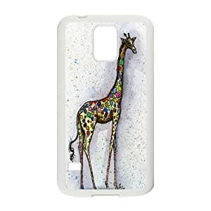 Nymeria 19 Customized Girly Whimsical Giraffe Bright Diy Design For Samsung Galaxy S5 Hard Back Cover Case DE-448