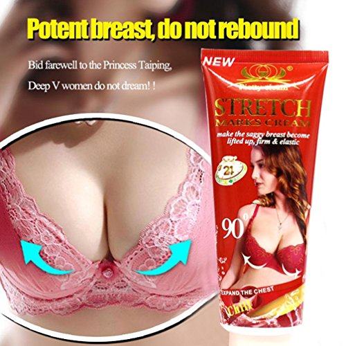 Yeefant Women's Girl's Perfect Breast Enlargement Massage Essential Cream Chest Lift Up Chest Tighten Skin Firm for External Use Only,Twice Daily Keep Massage Up and Down with 50 Times