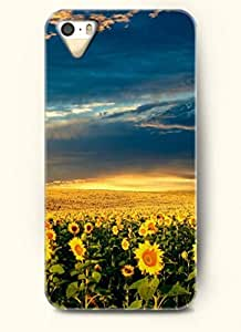 OOFIT phone case design with The blue sky and groups of sunflowers for Apple iPhone 4 4s