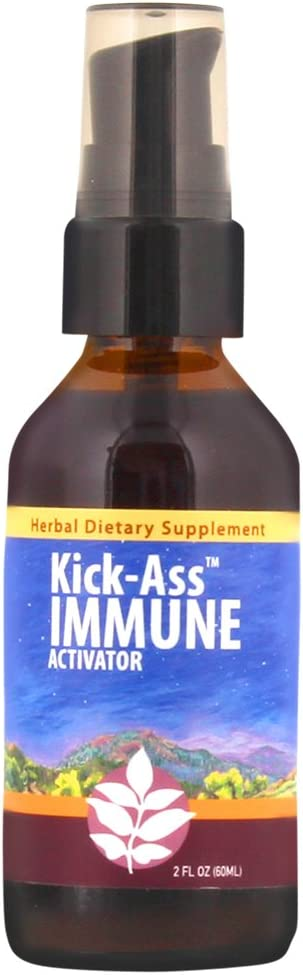 WishGarden Herbs Kick-Ass Immune, Organic Herbal Immune Booster Promotes Healthy System Response & Resistance (2 oz)