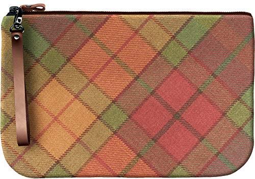 Medium Leather Clutch Bag Cullins of Skye Tartan Large Enough to Fit an iPad
