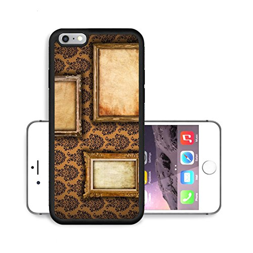 Liili Premium Apple iPhone 6 Plus iPhone 6S Plus Aluminum Snap Case Gilded frames on vintage damask style wallpaper background and grunge retro paper inserts IMAGE ID 9094838200