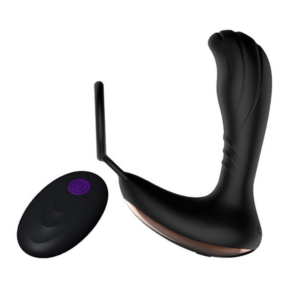 Prostata Stimulator mit Fernbedienung, Prostata Vibratoren Analplug G punkt Vibrator mit Penis-Ring, Silikon Analvibratoren Cock Ring für Männer, Wasserdicht