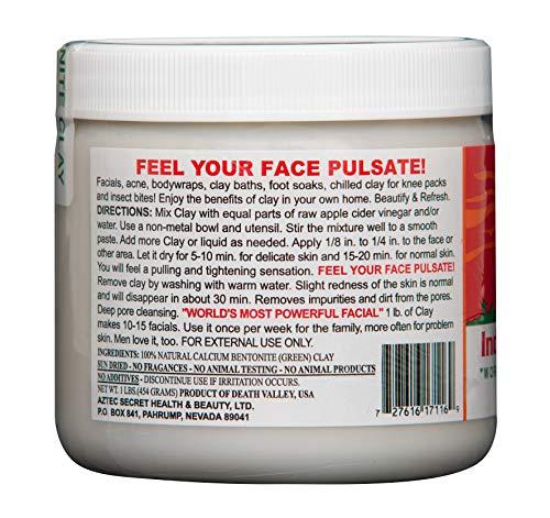 Large Product Image of Aztec Secret - Indian Healing Clay - 1 lb. | Deep Pore Cleansing Facial & Healing Body Mask | The Original 100% Natural Calcium Bentonite Clay
