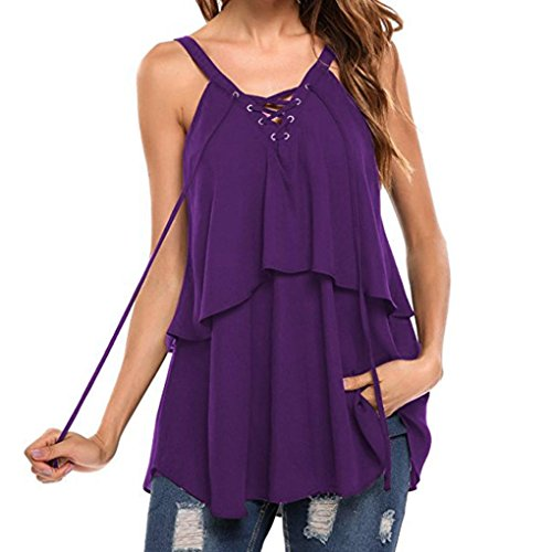 Top Lace Violet Tank Femmes Up Cami MORCHAN Tops Sans Manches Blouse Crop Gilet Casual Shirt S0q6wT6E
