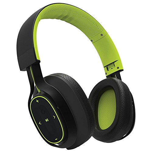 BlueAnt - Pump Zone Over Ear HD Wireless Headphones, 30+ hrs battery, Mega Bass and Enhanced Sound Purity (Green)